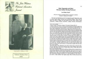 John Whitmer Historical Association Elder Nigeajasha